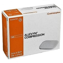 Smith & Nephew 66047581 ALLEVYN Compression Foam Dressing, 5CM X 6CM BX/10