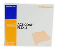 Smith & Nephew 66800396 Acticoat Flex 3 Antimicrobial Barrier Dressing 5cm x 5cm (NON-RETURNABLE) BX/5