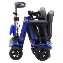 Drive Medical FLEX ZooME Flex FOLDING TRAVEL SCOOTER, Blue