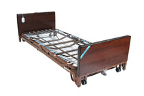 """Drive 15005LBV-PKG-T Full-Electric Low Height Bed with Full Length Side Rails and 80"""" Therapeutic Support Mattress 15005LBV-PKG-T"""