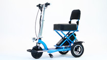 TRIAXE T3045-B 3-Wheel SPORT MOBILITY SCOOTER, Light Metallic Blue