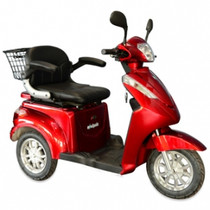 E-Wheels EW-38 High Power Fast 3 Wheel Heavy Duty Mobility Scooter (Red)
