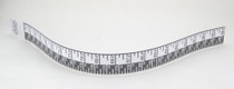 """Tape MEASURING HEIGHT WALL MOUNT w/ ADH BACKING 78"""" (192cm) - (99-1004)"""