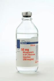 Baxter IA0694 Nitroglycerin in 5% Dextrose Injection - 250 ml bottles (Case of 12)