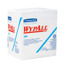 "KIMBERLY CLARK 34865 WYPALL X60 REINFORCED WIPES, White 12.5"" X 14.4"" PKG/76"