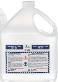 ALCOHOL ISOPROPYL 70%, COLOURLESS, 4L 1/BOTTLE (SCA-004)