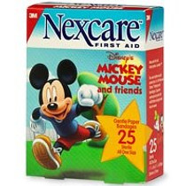 "Bandaid 1 1/16 x 2.25"" ""Nexcare Mickey Mouse""(MM201)"