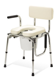 Medline G98204 COMMODE,DROP ARM,PADDED EA
