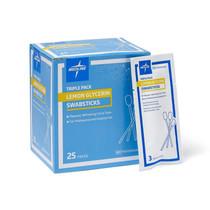 Medline MDS090600 SWABSTICK,LEMON/GLYCERIN,3/PK CS 750/CS