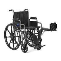 Medline MDS806300EV WHEELCHAIR, VINYL, DLR, ELR, K2B, 18 EA