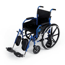 Medline MDS806300H2 WHEELCHAIR,HYBRID,REMOV DL ARMS CS 1/CS