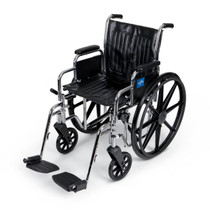 Medline MDS806400 WHEELCHAIR,20,RDLA,S/AFOOT,300LB CAP EA