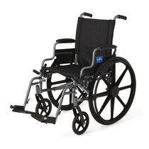 Medline MDS806500E WHEELCHAIR,K4,BASIC,18,RDLA,S/A FOOT EA (Medline MDS806500E)