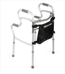 Medline MDS86410UR WALKER,3 IN 1,TWO BUTTON FOLDING,W/BAG CS 2/CS (Medline MDS86410UR)