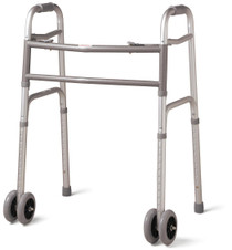 "Medline MDS86410XWW Adult Bariatric Walker,EXTRA WIDE,5"" Wheels"