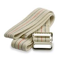 Medline MDT821203L Washable Cotton Gait Belts, Natural/Blue/Red Stripes