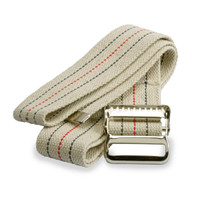 """Medline MDT828203 Cotton Gait Transfer Belts with Metal Buckle, Latex Free, 2"""" x 60"""" Size (Pack of 6)"""