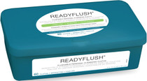 Medline MSC263800 ReadyFlush Biodegradable Flushable Wipes Scented, 60/TUB CS 9/CS