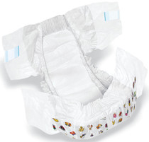 Medline MSC266045 DryTime Disposable Baby Diapers,White,CLOTHLIKE,CVR,SZ 5,30-38LB CS 144/CS