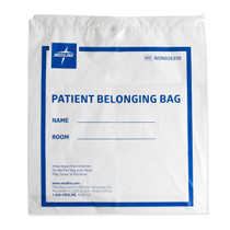 Medline NON026310 Drawstring Patient Belonging Bags, White (Case of 250)