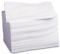 "Medline NON260506 Deluxe Dry Disposbale Washcloths,White,10""x13"" CS 500/CS"