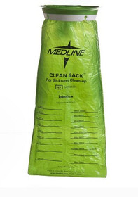 Medline NON80329 EMESIS BAG,SICKNESS CLEAN-UP,CLEAN SACK GREEN 144/GR