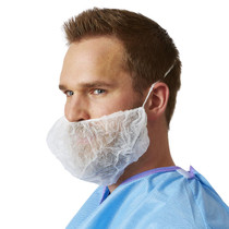 Medline NONSH400 Beard Covers,White,One Size Fits Most ,SPUN BOND,ELASTIC,WHITE CS 1000/CS