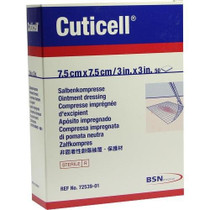 "- BSN Medical 7253903 CUTICELL Ointment Dressing, Sterile, 3"" x 8"" Size (Pack of 50"