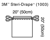 3M-1003 Steri-Drape™ Isolation Bag 49 X 49CM, BX/10, BX