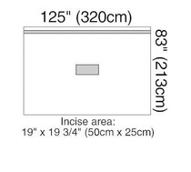 3M-1014 DRAPE PATIENT ISOLATION 320 X 213CM BX/5