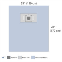 "3M-1054 OPHTHALMIC DRAPE SHEET 62 X 107"" (NON-RETURNABLE) BX/20"