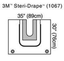3M-1067 Steri-Drape™ U-Drape SHOULDER 87cm X 74cm BX/5 (3M-1067)
