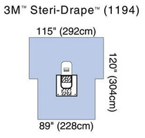 "3M-1194 DRAPE ARTHROSCOPY KNEE 88 X 125"" FLUID COLLECTION Pouch DRAIN PORT x2 BX/5 (NON-RETURNABLE) (3M-1194)"