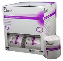 3M-20014 COBAN 2 COMPRESSION SYSTEM (LAYER1 ONLY) 10CM X 3.5M BX/18