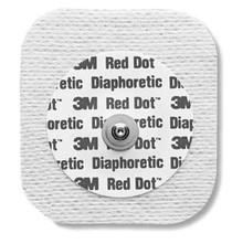 Electrode ECG ADULT CLOTH SQUARE SOLID GEL BULK RED DOT BG/50