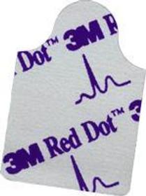 3M-2360 BX/100 Electrode ECG RESTING ADULT RECTANGULAR SOLID GEL RED DOT