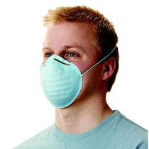 3M-2643A BX/5 NEXCARE DUST AND POLLEN FILTER MASK. BLUE, NON-WOVEN, MOLDED (3M-2643A)
