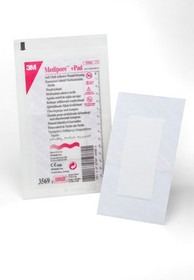 "3M-3569 MEDIPORE PLUS PAD SOFT CLOTH WOUND DRESSING 3.5"" X 6"" BX/25"