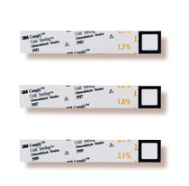 3M 3989 Comply™ Glutaraldehyde Monitors COLD STERILOG 2.1% MEC, BX/60