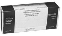 ALMEDIC 40-4000 GLOVE POLY DISPOSABLE SHOULDER LENGTH BX/100