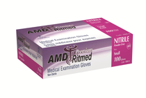 AMD 1186-A PINK NITRILE GLOVES, POWDER-FREE, X-SMALL