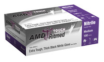 AMD 9950-D BLACK NITRILE GLOVES, POWDER-FREE, LARGE, INDUSTRIAL BX/100