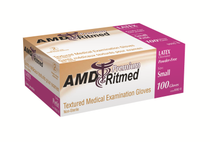 AMD 9991-B LATEX GLOVES, POWDERED, SMALL BX/100 (AMD 9991-B)