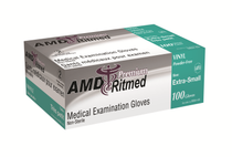 AMD 9993-B (CS/10) BX/100 VINYL GLOVES, POWDERED, MEDIUM (AMD 9993-B)