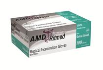 AMD 9993-B (CS/10) BX/100 VINYL GLOVES, POWDERED, MEDIUM (AMD 9993-B)