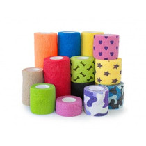 "AMD A1061-A COHESIVE BANDAGES 1"" X 5YDS, ASSORTED COLORS CS/72"