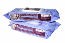 "AMD A40002 (CS/8) PK/64 WET WIPES, 9"" X 13"", SOFT PACK (AMD A40002)"