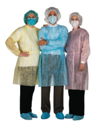 AMD A8010-B-CUF (CS/5) PKG/10 ISOLATION GOWN XL, COTTON CUFFS, BLUE (AMD A8010-B-CUF)