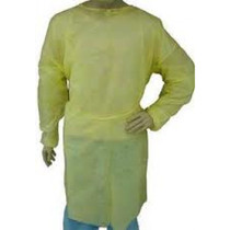AMD E8009-X ISOLATION GOWN REGULAR, YELLOW, ECONOMY PKG/10