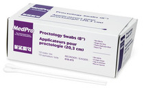 """MedPro 018-475 PROCTOLOGY SWAB 8"""", NON-STERILE, LARGE, RAYON TIPPED, PLASTIC SHAFT BX/100"""